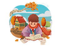 Emphasis, an illustration style for childrens' books by Tadaa Book