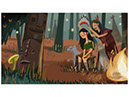 Indian, an illustration style for childrens' books by Tadaa Book